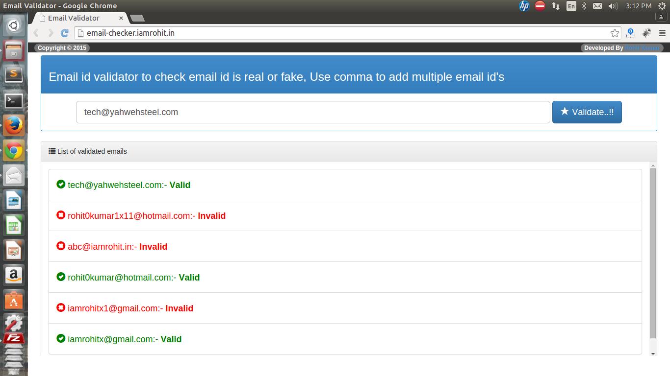 Email validator tool