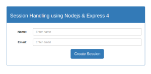 Session Handling Using Nodejs And Express 4 With Jade Template Engine