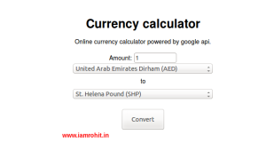 Create a currency converter in php using google finance currency api