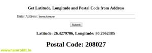 get-zipcode-address-php