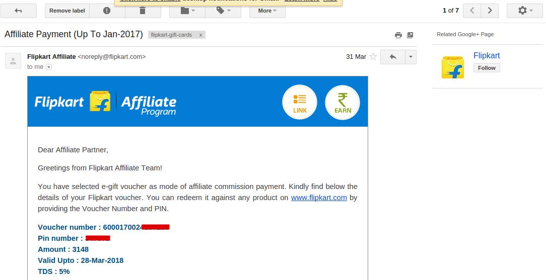 flipkart-affiliate-earning-proof-1