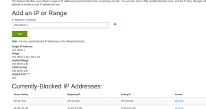 How to block spammer IP Address in Shared Hosting – Godaddy, Bluehost, Hostgator
