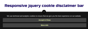Responsive-jquery-cookie-disclaimer-bar