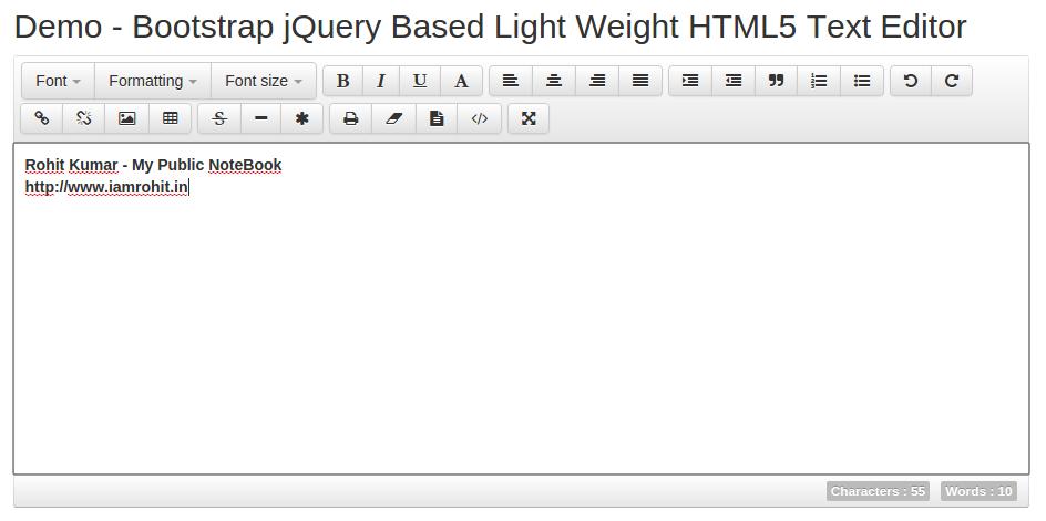 jQuery Text Editor Plugins