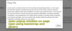 bootstrap-popup