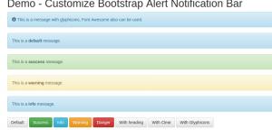 bootstrap-alert-notification-bar