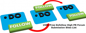 Top 150 Free Dofollow High PR Forum Submission Sites List