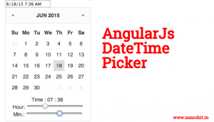 Pure AngularJS DateTime Picker