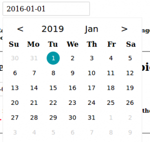 vue-datepicker